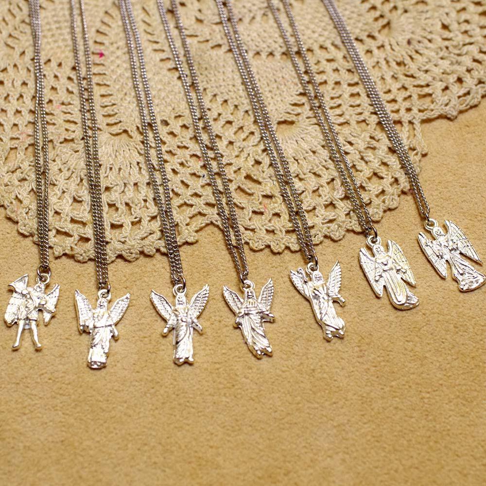 メキシコ アクセサリー ネックレス エンジェル 天使 大天使 エンゼル お守り アムレット ギフト プレゼント ミカエル ジョフィエル チャミュエル ガブリエル ラファエル ウリエル ザドキエル