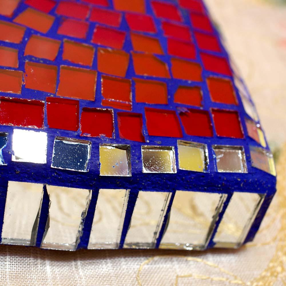 メキシコ インテリア ハート ガラス ステンドグラス 壁掛け 壁飾り 手作り 飾り ボヘミアン エスニック かわいい 雑貨 メキシコ雑貨 メキシコ雑貨pad
