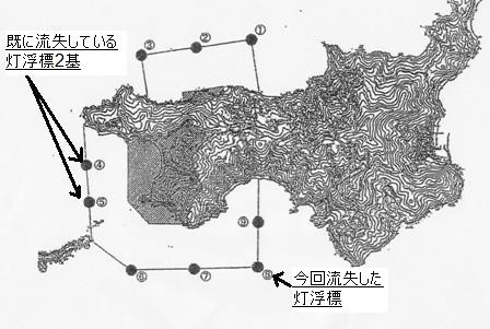 灯浮標配置図