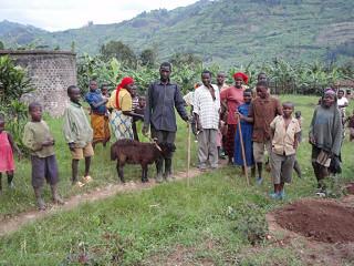 地元の農民たち