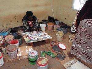 イミゴンゴ塗り作業