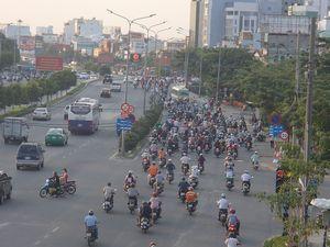 大きなバイクの交通量