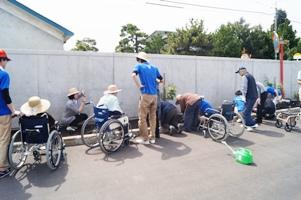 車椅子の方も参加
