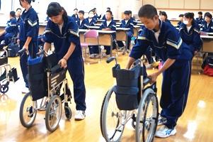 車椅子体験1