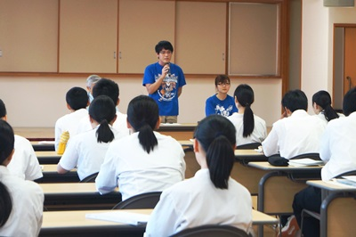 浪岡高校見学、松谷さん質疑応答