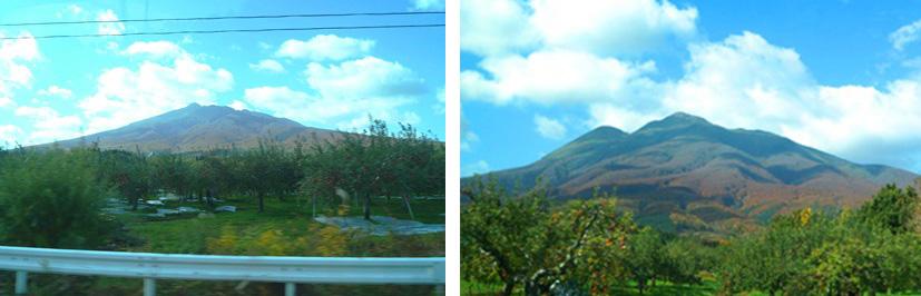 車窓から〜だんだん近づく岩木山