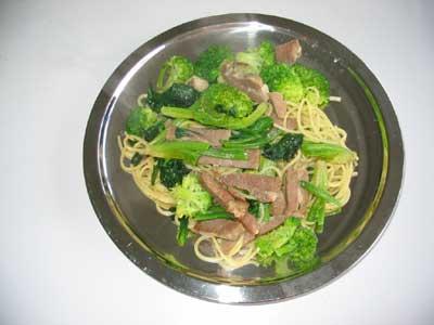 塩豚と春野菜のパスタ