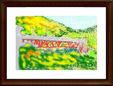 信貴の橋,水彩作品,奈良,パソコン教室,大和西大寺駅,パソコンスクール