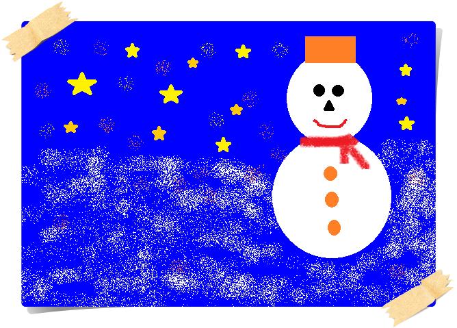 ペイントでクリスマスカード,奈良,奈良市,大和西大寺,パソコン教室,MOS資格