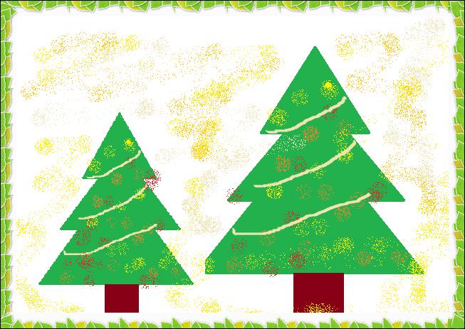 ペイントでクリスマスツリー,奈良,奈良市,パソコン教室,大和西大寺,パソコンスクール