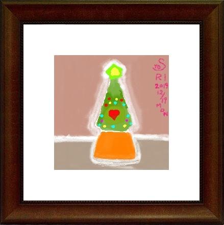 パソコンで水彩画,奈良,奈良市,パソコン教室,パソコンスクール,大和西大寺,クリスマスツリー