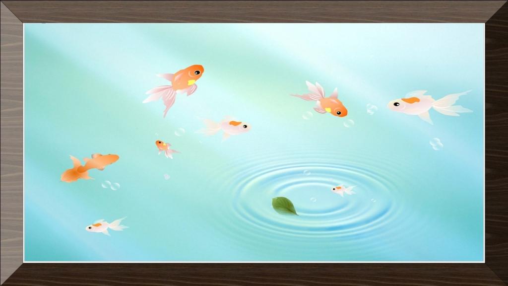 パソコンでイラスト,図形でイラスト作成,池で遊ぶ金魚,奈良,奈良市,大和西大寺,パソコン教室,Word.PowerPoint