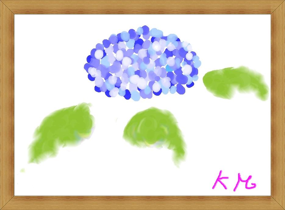 水彩画,紫陽花,奈良,奈良市,パソコン教室,大和西大寺