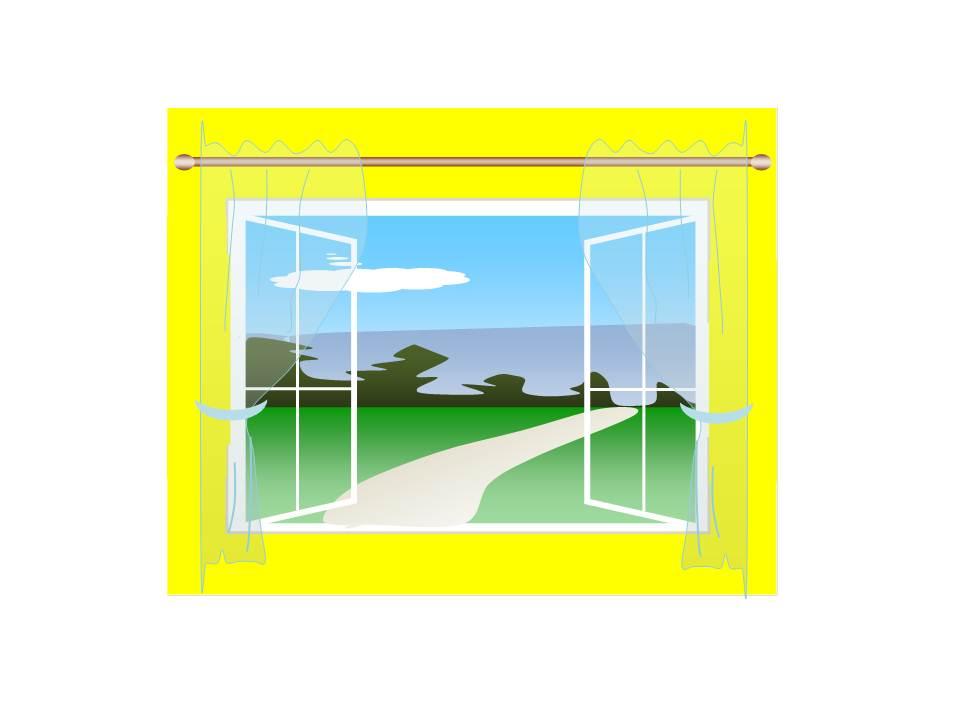 Wordでイラスト,窓からの風景,奈良,奈良市,大和西大寺,Word絵,Word図形でイラスト,風景画