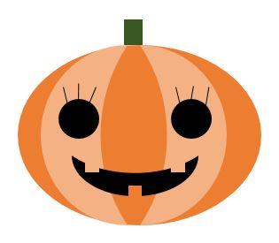 PowerPointでイラスト,かぼちゃ,Hallowe'en,奈良,奈良市,大和西大寺,パソコン教室,ハロウィン