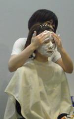 富山ブライダルエステアンジェ・ド・ポー洗顔デモ