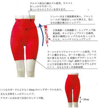 富山ブライダルエステアンジェ・ド・ポー Lacoco Lady Red ガードル&ロングガードル