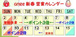 富山ブライダルエステアンジェ・ド・ポー2011新春営業カレンダー