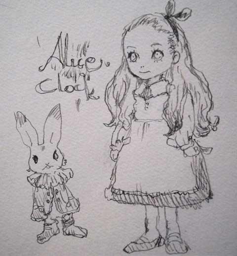 AliceClockRakugaki