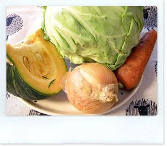 野菜スープ材料