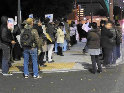 首相官邸前抗議行動
