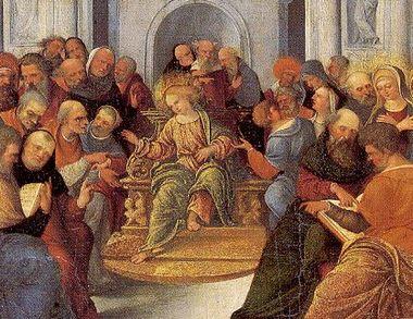 Mazzolino,Ludovic 神殿のイエス1525