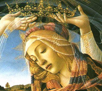 botticelliマニフィカトの聖母部分