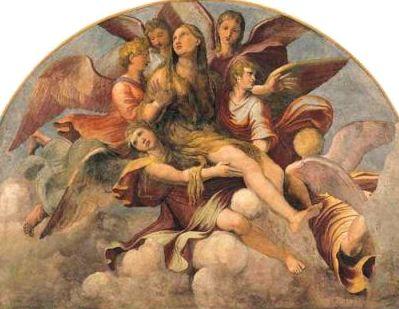 天使によって天に昇るマグダレーナ