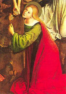 十字架を抱きしめるマグダラのマリア