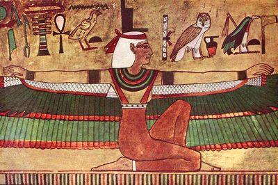 女神イシスの壁画