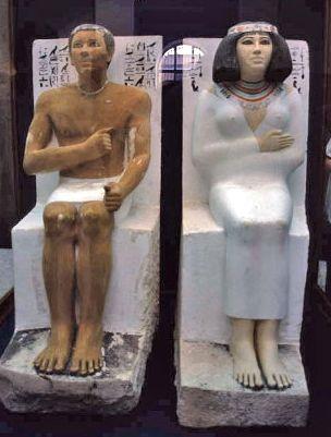 ラーヘテプ王子と妻ネフェルトの坐像