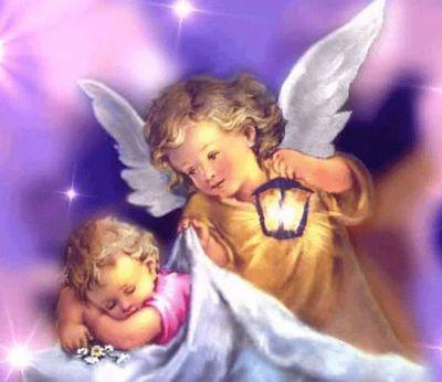 赤ちゃんと天使