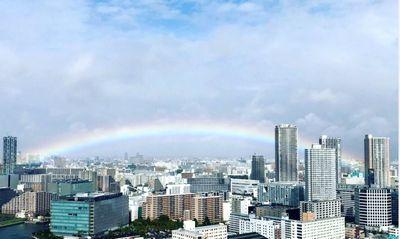 即位の礼の虹