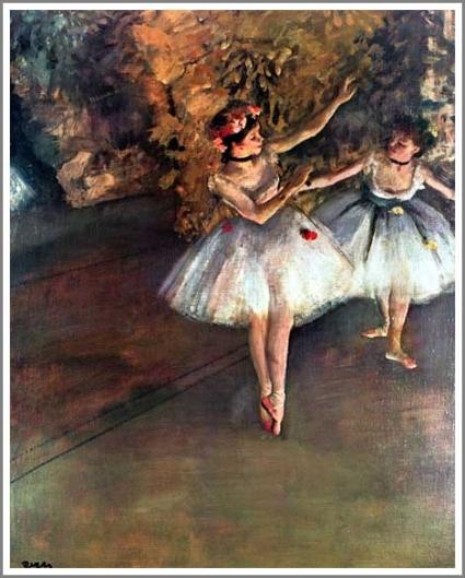 舞台の二人の踊り子