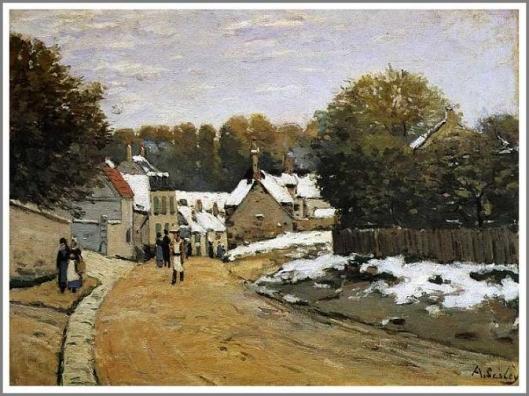 ルーヴシエンヌの初雪