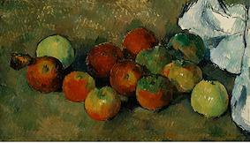 りんごとテーブルクロス