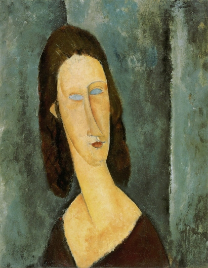 青い眼の肖像(ジャンヌ・エビュテルヌ)