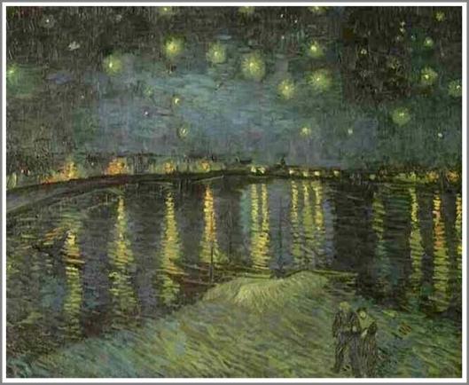 ローヌ河の月明かり