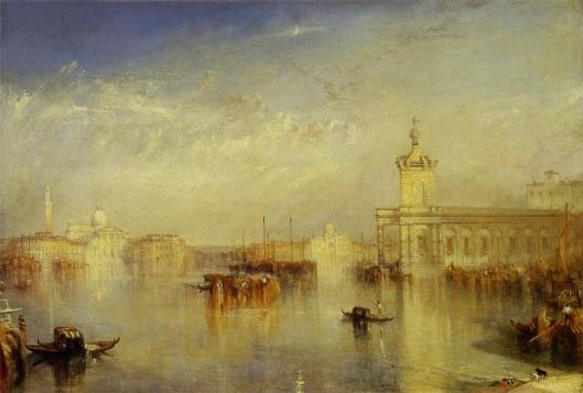 ヴェネチア、税関舎とサン・ジョルジョ・マジョーレ