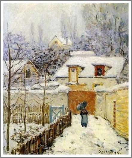 ルーヴシエンヌの庭 〜雪景色〜