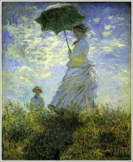 モネ 日傘を差す女