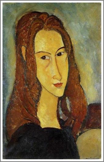 若い女の肖像(ジャンヌ・エビュテルヌ)