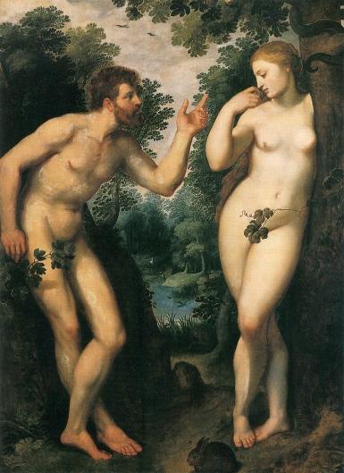 楽園のアダムとエヴァ