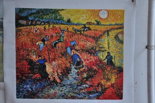 赤い葡萄畑