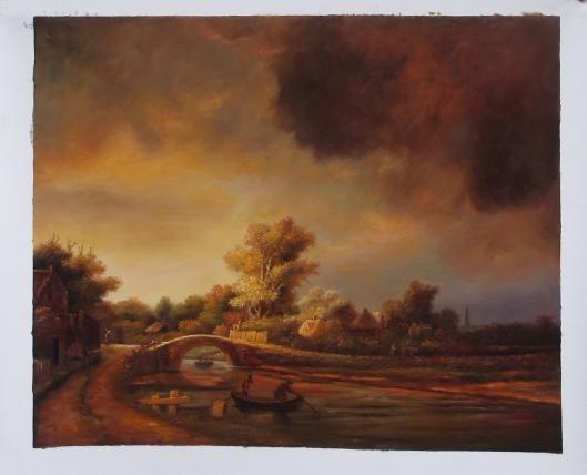 レンブラント「石橋のある風景」