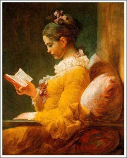 読書をする娘