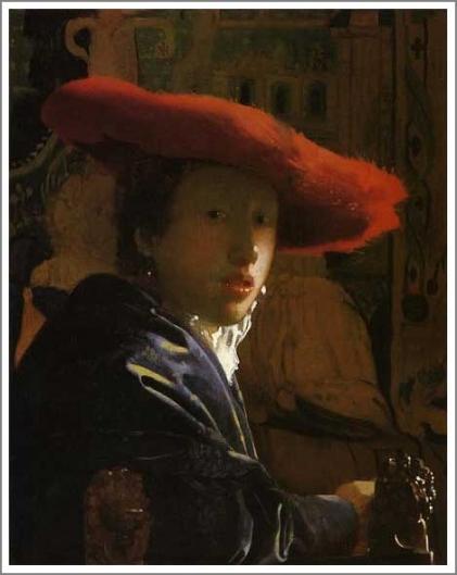 赤い帽子の女