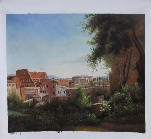 ファルネーゼ庭園から眺めたコロッセウム