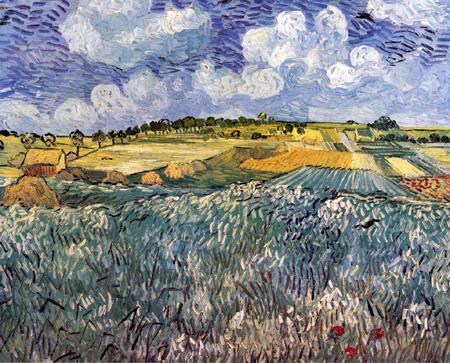 雨雲のあるオーヴェールの野