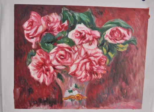 ルノアール【花瓶のばら】※オルセー美術館所蔵